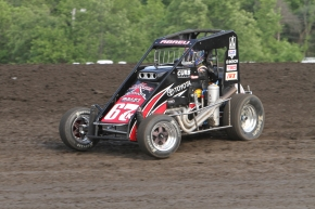 "Rico Abreu won one of the 2012 ""Louie Vermeil Classic"" features. Here is is pictured in the Kunz/Curb-Agajanian Midget."