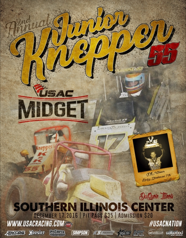TICKETS NOW ON SALE FOR JUNIOR KNEPPER 55 USAC MIDGET RACE IN Du QUOIN