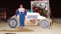 Jack Hewitt at home at Eldora Speedway in 1988.