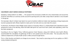 CALIFORNIA'S MARCH USAC SCHEDULE POSTPONED