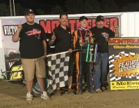 Winner Stratton Briggs and crew in victory lane.