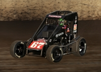 "Tanner Thorson won the 2015 ""Gold Crown Midget Nationals"" at Tri-City Speedway in Granite City, Illinois after restarting from the tail of the field with 18 laps to go."