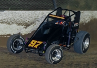 "2017 ""4-Crown"" USAC Silver Crown winner Tyler Courtney."