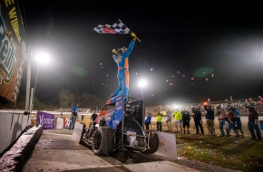 "Tyler Courtney won the first two races of the 2019 USAC NOS Energy Drink National Midget season. He goes for three-in-a-row this Saturday in the ""Shamrock Classic"" at the Southern Illinois Center."