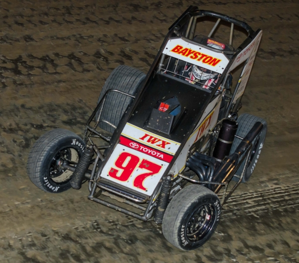 "Saturday night at Eldora Speedway, Spencer Bayston became the first driver since Kasey Kahne in 2000 to win the ""Bellvelle Midget Nationals"" and the ""4-Crown Nationals"" midget race in the same season."