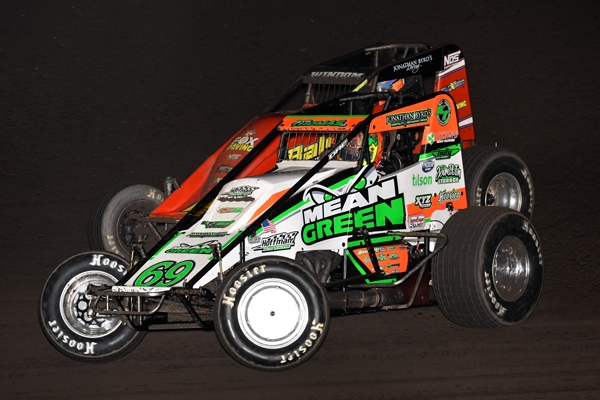 "Kevin Thomas, Jr. became the first three-time winner of the ""Haubstadt Hustler"" Saturday night at Tri-State Speedway."
