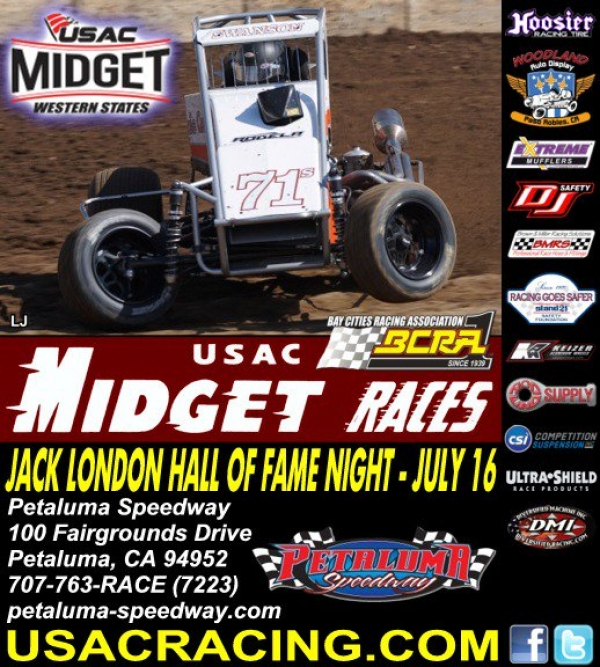USAC WESTERN STATES & BCRA MIDGETS SET TO RUMBLE AT PETALUMA
