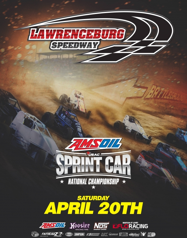 LAWRENCEBURG SPRINT RACE POSTPONED TO APRIL 20