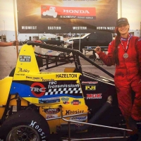 HAZELTON'S 6TH USAC WIN COMES AT LVMS BULLRING
