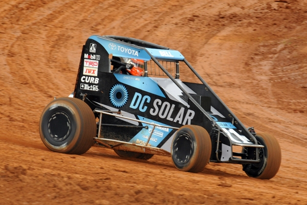 "Christopher Bell won his third consecutive Bloomington ""Indiana Midget Week"" feature Friday night."