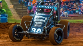 C.J. Leary on the night of his most recent USAC AMSOIL National Sprint Car win in the Leary Racing No. 30, on July 27, 2018 at Bloomington (Ind.) Speedway.