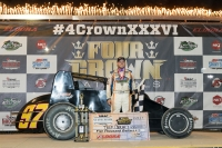 "Tyler Courtney won his first career USAC Silver Crown race Saturday night in the 36th ""4-Crown Nationals"" at Eldora Speedway."