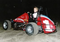 Sleepy Tripp poses in the Zarounian Midget.