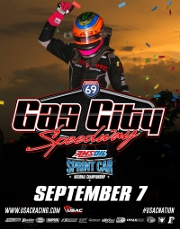 GAS CITY USAC SPRINT RACE POSTPONED TIL SEPT. 28