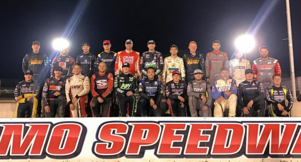 "The starting field for last Saturday night's ""Sprint Car Smackdown VI"" feature at Kokomo (Ind.) Speedway."