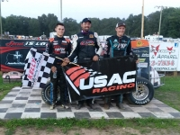 Winner Adam Pierson (middle) in victory lane.