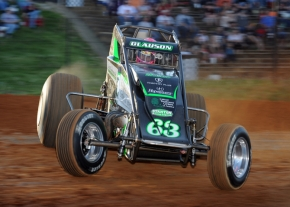 Bryan Clauson qualifies at Bloomington (Ind.) Speedway in April 2016.