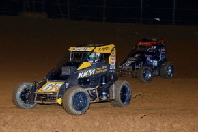 Lanco winner Tanner Thorson (#67) leads Brady Bacon.