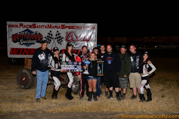 Cory Kruseman was a happy winner at Santa Maria last Saturday.