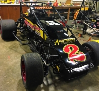 "Ryan Newman's USAC Silver Crown Johnny Vance Racing ride for this Thursday night's ""Rich Vogler/USAC Hall of Fame Classic"" at Lucas Oil Raceway in Brownsburg, Indiana."