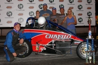 "Nick Chivello won the ""Gerhardt Classic"" 100-lapper."
