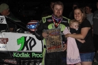 R.J. Johnson in victory lane at Canyon Speedway Park.
