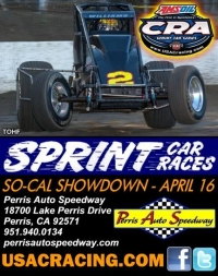 USAC/CRA SPRINT CAR'S SO-CAL SHOWDOWN SATURDAY AT PERRIS