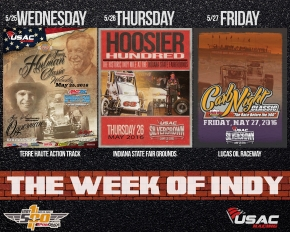 USAC'S WEEK OF INDY JUST AROUND THE CORNER; HUGE DISCOUNT AVAILABLE VIA SUPERTICKET