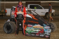 "Tanner Thorson was victorious in the ""Hump Day Summer Series"" opener at Plymouth (Ind.) Speedway Wednesday night."