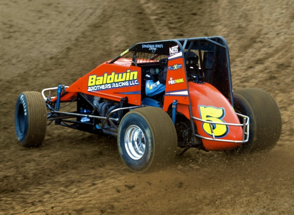 "NOS Energy Drink ""Indiana Sprint Week"" point leader Chris Windom."