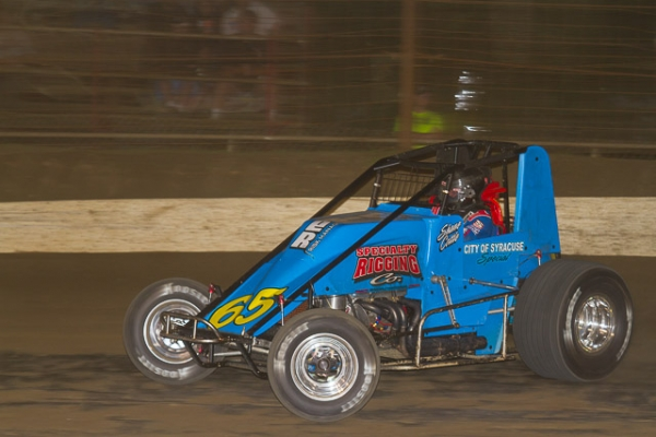 "Shane Cottle piloted Gene Franckowiak's ""City of Syracuse Special"" #65 to the win Sunday night at Susquehanna."