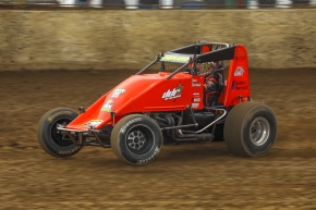 Dave Darland in his own No. 36 last weekend at Kokomo.