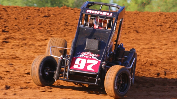 Rico Abreu at Bloomington during 2014 Indiana Midget Week.