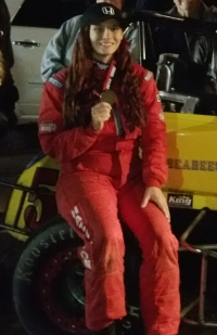 Ashley Hazelton - 2014 USAC HPD Western Dirt Midget Champion