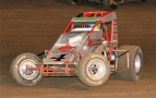 USAC/CRA AMSOIL Sprint Car point leader Damion Gardner.