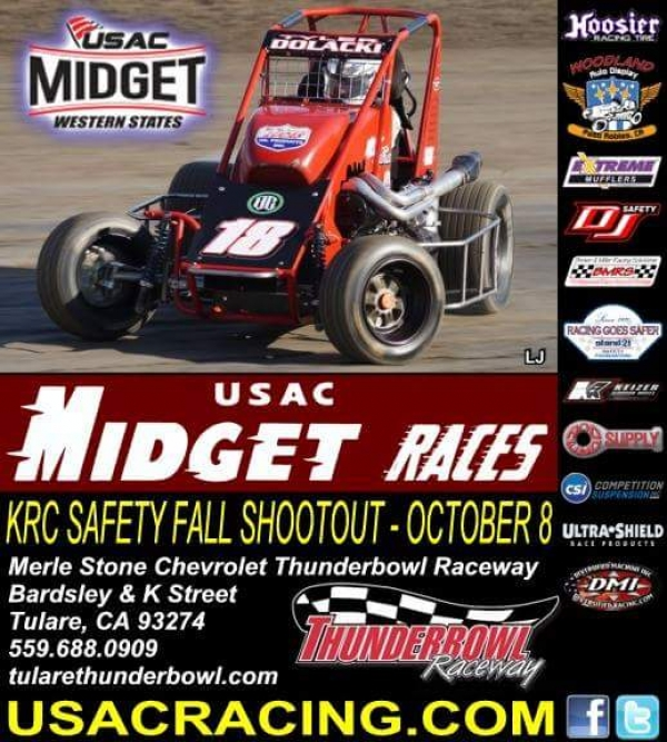 WESTERN STATES MIDGETS GUN FOR FALL SHOOTOUT SATURDAY AT TULARE