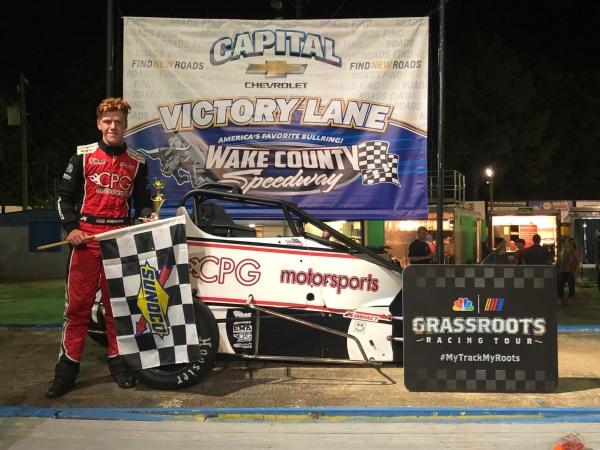 Connor Gross wins at Wake County.