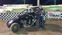Jesse Love IV won his first career USAC Western HPD Midget race last Saturday night at Dixon (Calif.) Motor Speedway..