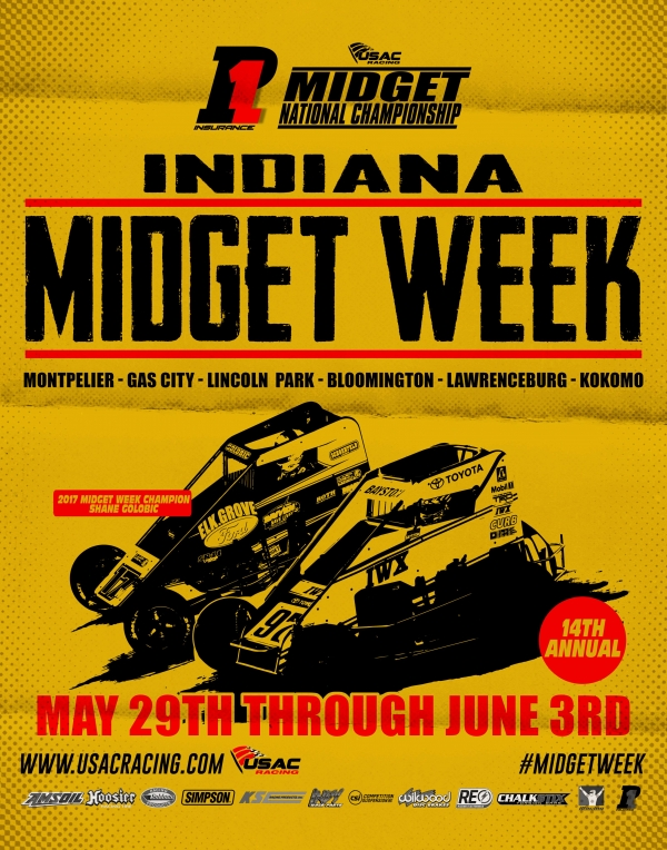 INDIANA MIDGET WEEK STANDINGS (After Rd. 2 of 5)