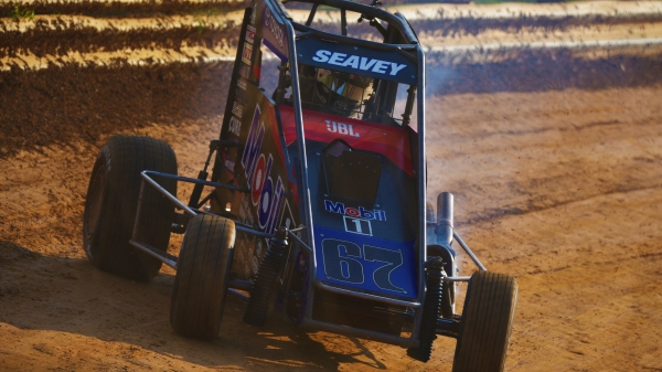 Logan Seavey captured Saturday night's Pennsylvania Midget Week finale at Lanco's Clyde Martin Memorial Speedway.