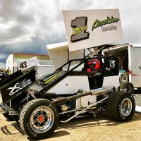 #01 Troy Ullery, a two-time winner this year in USAC Rocky Mountain Lightning Sprints