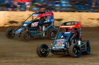 #76m C.J. Leary and #4A Justin Grant battle at Kokomo in April of 2019.