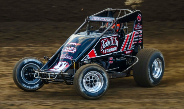 Kevin Thomas, Jr. was victorious in Wednesday night's USAC AMSOIL Sprint Car #GYATK Night at Kokomo (Ind.) Speedway.