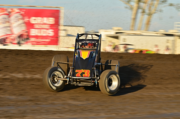 Ryan Bernal leads the USAC West Coast Sprints.