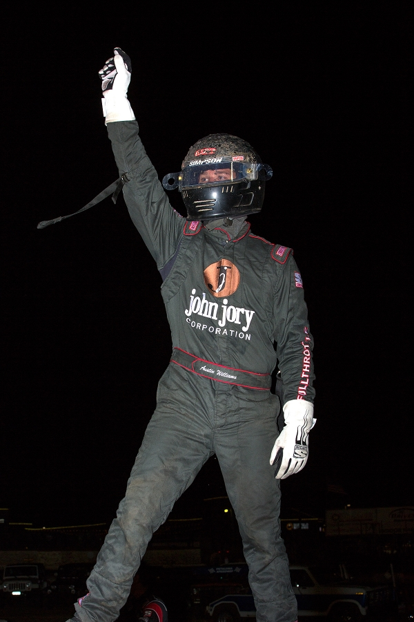 Austin Williams celebrates his victory at Petaluma!