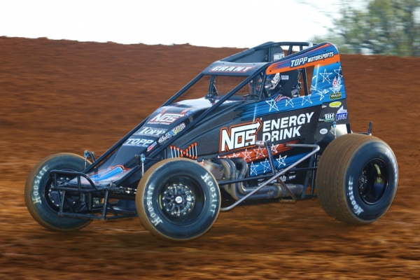 #4 Justin Grant, 4th in USAC AMSOIL National Sprint Car standings.