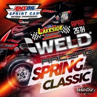 "LAKESIDE TO HOST ""WELD RACING CLASSIC"" APRIL 26"