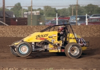 1995 USAC National Sprint Car Champion Tony Stewart at Kokomo (Ind.) Speedway.