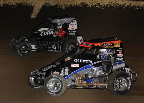 #76m Brady Bacon & #97 Spencer Bayston battle it out at Kokomo.