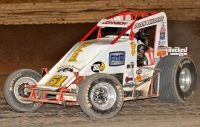 #51 R.J. Johnson. USAC SouthWest Point Leader